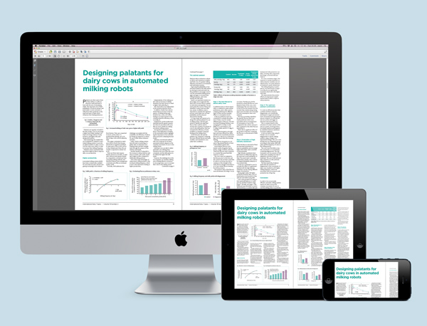 image of magazine spread on different devices